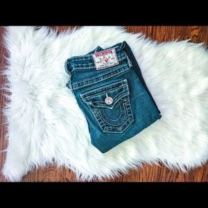 True Religion Distressed Flare Jeans 24